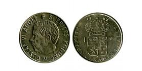 1 Couronne Gustave VI Suède Argent