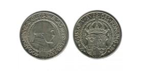 2 Couronnes Gustave V Suède Argent