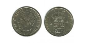 2 Couronnes Gustave VI Suède Argent