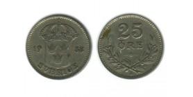 25 Ore Gustave V Suède Argent