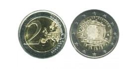 2 Euros Les 30 ans du Drapeau luxembourg