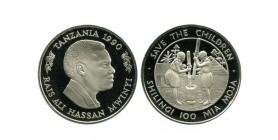 100 Shilingi Tanzanie - Argent