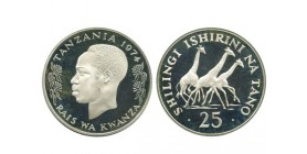 25 Shilingi Tanzanie - Argent