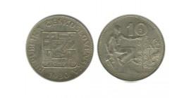 10 Couronnes Tchécoslovaquie Argent