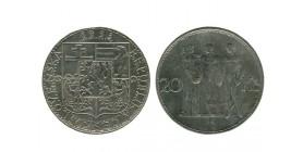 20 Couronnes Tchécoslovaquie Argent