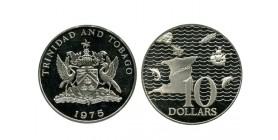 10 Dollars Trinité et Tobago Argent