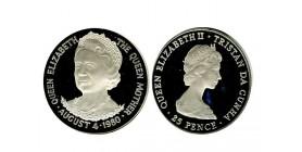 25 Pence Elisabeth II Tristan Da Cunha Argent