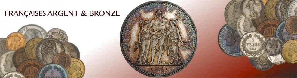 Monnaies Argent et Bronze Française