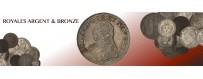 Monnaies Argent et Bronze Royales